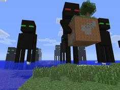 What if an enderman was carrying a house! LOL!