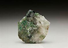 Uvarovite from the classic Finnish location at Outokumpu. Crystal Classics Minerals