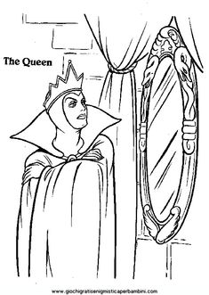 Cartoon Coloring Pages, Disney Coloring Pages, Colouring Pages, Coloring Sheets, Coloring Books, Snow White Queen, Snow White Doll, Snow White Coloring Pages, Snow White