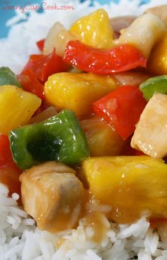 Sweet and Sour Chicken Recipe from Jenny Jones (JennyCanCook.com) Fresh pineapple makes all the difference in this quick and easy stir fry. Cooks in 10 minutes.