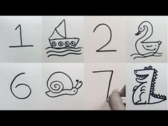 New Screen alphabet drawing for kids Tips Offer kids a stack of paper and also a common box of crayons, as there are a good venture are going to satisfied camper Easy Drawings For Beginners, Easy Drawings For Kids, Simple Drawings, Numbers For Kids, Alphabet And Numbers, Simple Pictures, Pictures To Draw, Painting For Kids, Art For Kids
