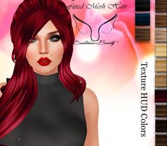 Olya Hair Freebie All Colors Fitted mesh Olya hair with all colors included. This is a freebie available at the store entrance, next to the group gift...