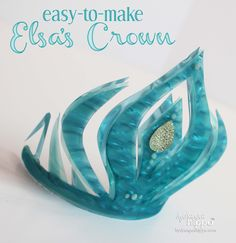 How to make Elsa's Crown from Frozen - great for parties! Kids can make this too - using Rowlux Illusion Film and Scissors. So easy!