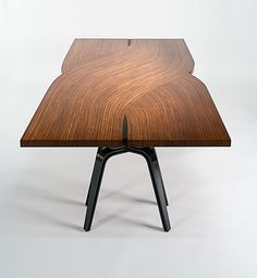 LOFOT Dining Table by FINNE Architects Love the wood texture design!