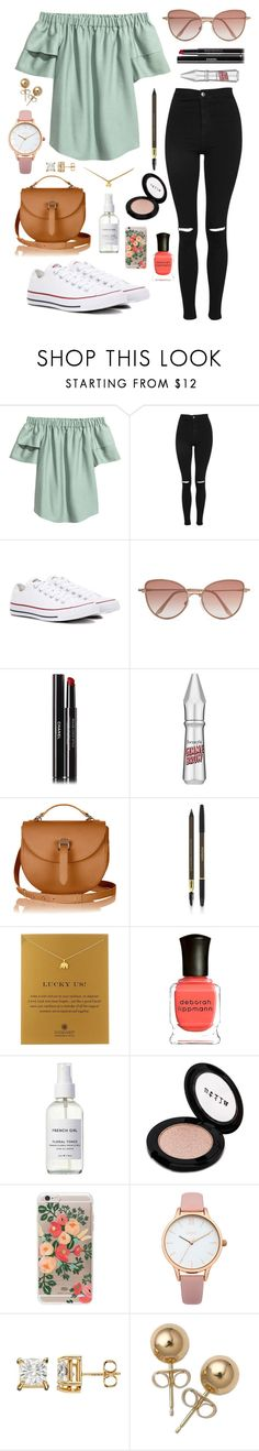 """#summer"" by lightbody-joanna on Polyvore featuring Topshop, Converse, Cutler and Gross, Chanel, Benefit, Yves Saint Laurent, Dogeared, Deborah Lippmann, French Girl and Stila"