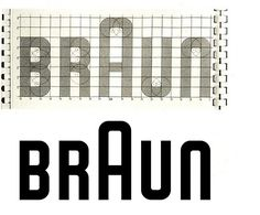 Braun, a grid-based logo bluprint