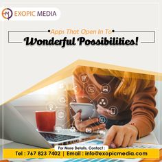 Our webmasters and app experts ensure, that your reputation grows not just in terms of brand engagement, but in service excellence as well. Grow your business with the leading 360° Marketing and Advertising Agency in India. Call us: 7678237402 #apps #wonderful #possibilities #ExopicMedia #webmasters #experts #reputation #brandengagement #grow #business #marketingagency #advertisingagency #marketing #advertising #marketingservices