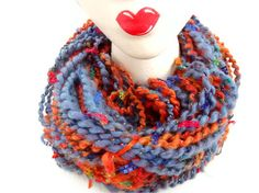 DESERT SUNSET Handspun Art Yarn by Lady Painswick by ladypainswick, $30.00