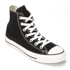 Black Converse High top converse, worn with dingy laces Converse Shoes Sneakers