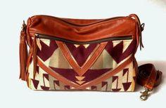 The Buena Vista Social Bag- Leather and Pendleton.