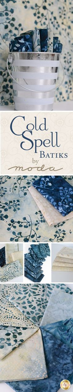 Cold Spell Batiks is a collection by Laundry Basket Quilts for Moda Fabrics…
