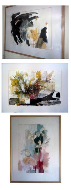 Flores de papel / Manchas de color/ Pintura