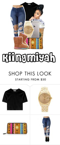 """""""Tea ☕️"""" by kiingmiyah ❤ liked on Polyvore featuring Rolex, MCM and UGG Australia"""