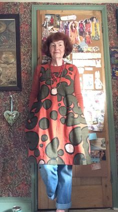 #mmmay16 Day 13 Dress made with H&M Marimekko inspired fabric using Vintage Butterick 4317