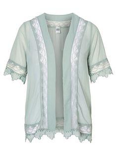 WP - LACE 2/4 KIMONO CARDIGAN, Chinois Green, main Cardigan Kimono, Kimono Top, Bohemian, Outfits, Chic, Lace, Sweaters, Shopping, Women