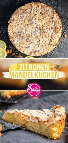 Hallo meine Lieben, mein neues Video ist jetzt online😍 Dieser Zitronenkuchen kommt ganz ohne Mehl aus und ist in unter 10 Minuten zubereitet! Die Basis des Kuchens bildet aufgeschlagenes Eiweiß, welches den Kuchen nach dem Backen super locker macht. Statt Mehl werden in diesem Fall geschälte Mandeln gemahlen und in die Buttermasse eingerührt. Zitronensaft und -schale sorgen noch für die leckere, sommerlich leichte Geschmacksnote.❤️ #sallyswelt #sallys #sally #zitronenkuchen #glutenfree… Sweet Recipes, Cake Recipes, Dessert Recipes, Sweet Bakery, Cake & Co, Sweets Cake, No Bake Desserts, No Bake Cake, Love Food