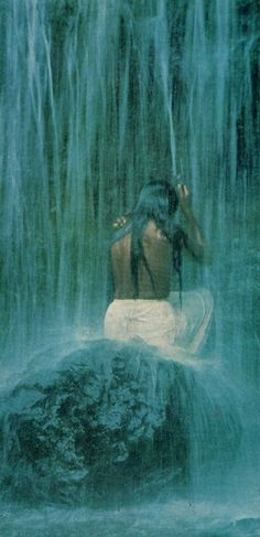 go pray by the ocean, on a mountain top and in a waterfall… Gypsy Living, Polynesian Culture, Gypsy Life, Beautiful Waterfalls, Island Girl, Fantasy Inspiration, Beautiful Images, Beautiful People, Getting Wet