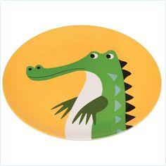 """Melamin-Teller """"Krokodil"""" REX Kindergeschirr www.lolakids.de"""