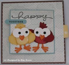 Paper Punch Addiction: Happy Together T-Slide Card with bird tut & slide tut sites