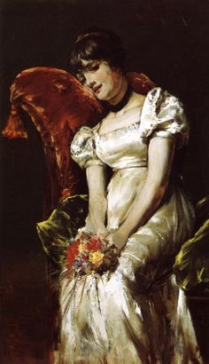A Girl   -    1885. Pierre-Auguste Renoir (1841-1919)