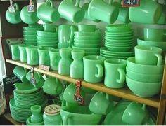 Green pyrex