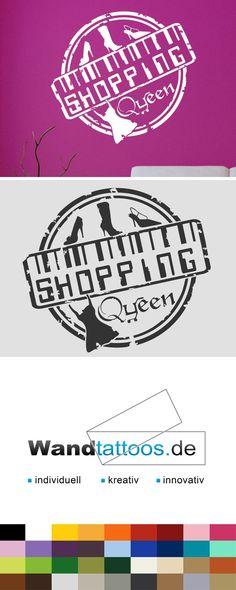 Wandtattoo Button Shopping Queen als Idee zur individuellen Wandgestaltung. Einfach Lieblingsfarbe und Größe auswählen. Weitere kreative Anregungen von Wandtattoos.de hier entdecken!
