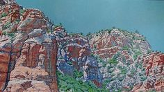 DJ Hershman  Stone Beauty #1   Oil on Board  H 28in x W 48in