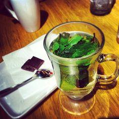 Mint tea and chilli chocolate  #Wahaca  Photo by janebeecham