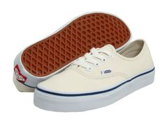 Authentic Vans, white with blue stripe! Check these out in our ebay store!