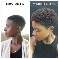 """This might sound crazy but as I'm making progress towards my tapered afro, I'm """"craving"""" hair styles that I'm not even close to attaining like bangs and box braids. Tapered Natural Hair, Pelo Natural, Natural Hair Twa, Twa Hairstyles, African Hairstyles, Haircuts, Tapered Afro, Tapered Haircut, Curly Hair Styles"""