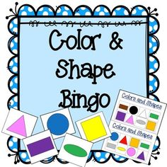 Colors and Shapes - Oh My! Perfect learning game for Pre-K and Kindergarten! Practice naming and identifying on this 4x2 Bingo game! Colors include: Red, Blue, Green, Yellow, Orange, Purple, Pink, Black, White, Grey, and Brown. Shapes include: Square, Circle, Triangle, Rectangle, and Oval.