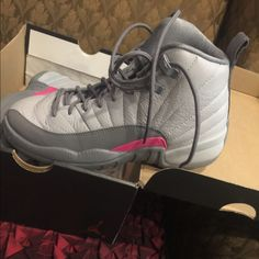 best value 3bb47 0d4a2 Nike Shoes   Michael Jordan Basketball Shoes 5y   Color  Gray Pink   Size   5bb