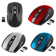 Baru 2.4 GHz Wireless Optical Mouse/Mice Dengan USB 2.0 Receiver untuk PC Laptop