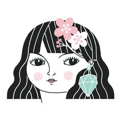 We worked with dream illustrator Anke Weckmann to create our new look earlier this year, and we couldn't have wished for a more perfect result! This was such a fun project and we love our new girl Hannah with her flower in her hair and a show stopping pair of earrings!