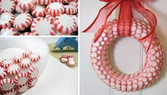 Get step by step instructions on how to make your Peppermint Christmas Wreath. Finish off your candy cane Christmas decorations by adding a peppermint wreath to your door, hang it on your window or place it on an indoor wreath holder to sit by your Christmas table. #christmascrafts #christmaswreaths