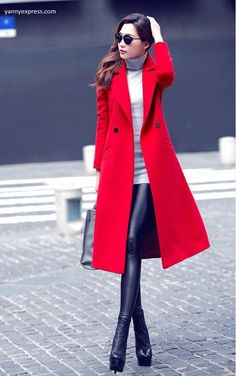 Wool Blend Fit & Flare Walking Coat