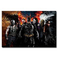 Batman Arkham Asylum Game Art Silk Poster 13x20 24x36 Wall Decoration 001