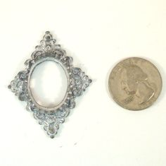 Vintage Dollhouse Miniature Metal Diamond Shaped Frame by VintageCreekside, $8.00