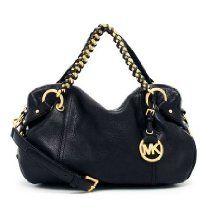 Michael By Michael Kors Women's Tristan Leather Satchel Black Handbag From Michael Kors - Bags or Shoes Shop