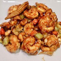 Shrimp with Cashew Nuts #shrimp #cashew #nuts #mushroom #babycorn #celery #carrots #onions #waterchestnut #seafood #takeout #chinesefood #foodies #foodphotography #foodpics #instafood #foodporn #foodgasm #foodstagram #foodblog #igfood #syracuse