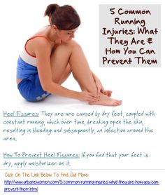 5 Common Running Injuries: What They Are & How You Can Prevent Them - Heel Fissures: They are are caused by dry feet, coupled with constant running, which over time, breaking open the skin, resulting in bleeding and subsequently, an infection around the area. To prevent heel fissures, apply moisturizer on it if you find that your feet is wet...