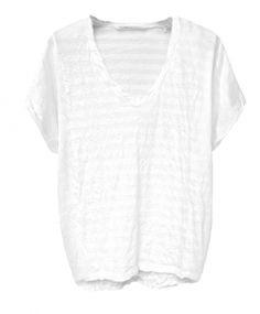 Hope Boxy Shirt BAT STRIPES white
