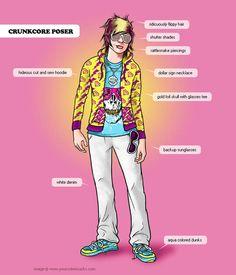 #crunkcore#hipster