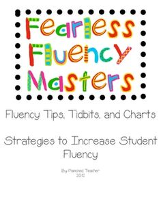 free Fluency Tracking Chart and information