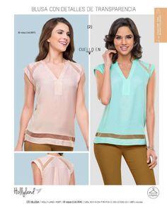 85cba1e88 Blusas de moda para mujer con detalles de transparencias de la marca Holly  Land