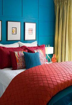 mexican bedroom color scheme... Except more colors