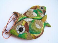 Papier mache fish Miss Pelpa