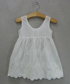 Love this White Eyelet Dress - Toddler & Girls on #zulily! #zulilyfinds