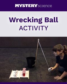 Wrecking Ball Activity - free hands-on science activity for and grade elementary kids. Part of a complete unit on Pushes: Forces, Machines, & Engineering. Meets Next Generation Science Standards (NGSS). 4th Grade Science, Kindergarten Science, Middle School Science, Science Classroom, Teaching Science, Science Inquiry, Preschool Class, Elementary Science, Science Experiments Kids