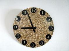 Art Deco Wall Clock  Gold Glitter Wall Clock  by GoldenDaysDesigns, $30.00